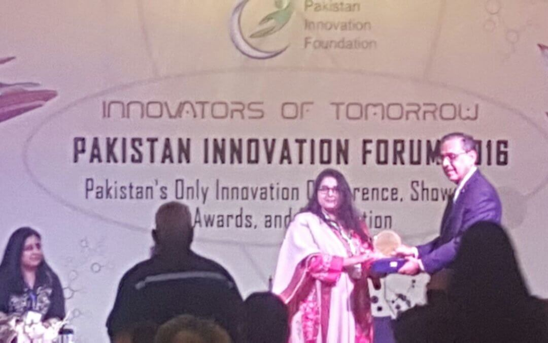Ms. Manzil-e- Maqsood represented Oxbridge at Pakistan Innovation Forum 2016