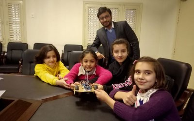 Robotics & STEAM workshop at Agha Khan Local Education Board (AKLEB).